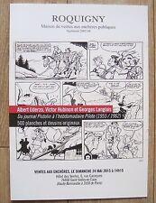 Catalogue de Vente aux Encheres BD UDERZO BELLOY 16 PAGES NEUF