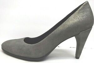 Ecco EUR 36 US 5 5.5 Gray Leather Pumps Heels New Womens Shoes
