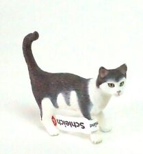 Schleich Figure 2008 Grey White Kitty Cat Domestic Figure Animal Figure Figurine