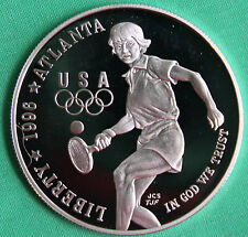 1996 Olympic Tennis Proof Silver Dollar Commemorative US Mint Coin ONLY
