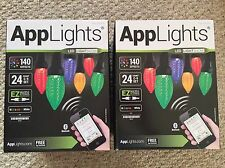 2 Boxes 24 LED App C9 String Lights Wedding Christmas Lightshow Gemmy 140 Effect