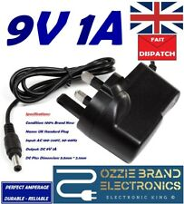 UK 9V 1A POWER SUPPLY ADAPTER TO FIT PROLINE DOCKING STATION PLID807 DOCK SYSTEM