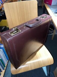 Faux Brown Leather Briefcase
