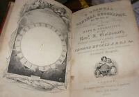 Antico 1ST Edizione GOLDSMITH'S Grammar di Geography 19TH Century