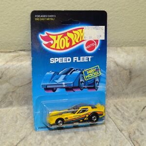 Vintage Hotwheel Blackwall Yellow Firebird Funny Car-Unpunched Speed Fleet Card