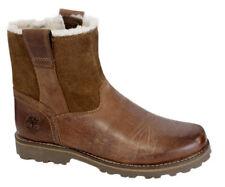 Chaussures marrons à enfiler en cuir pour fille de 2 à 16 ans