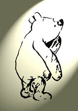 Classic Winnie the Pooh Sketch Stencil Vintage style 297x210mm furniture wall