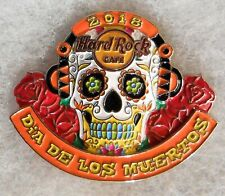 HARD ROCK CAFE NO LOCATION 3D DAY OF THE DEAD SUGAR SKULL WITH ROSES PIN