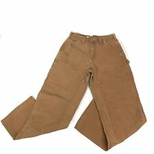 Carhartt Carpenter Men Pants Size 29x30 Double Knee B01 Brown Made In USA VTG