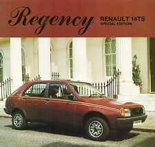 Renault 14 TS Regency Limited Edition 1981 UK Market Sales Brochure