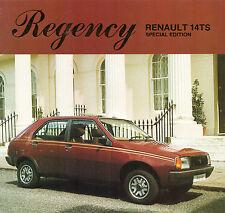 Renault 14 TS Regency Limited Edition 1981 UK Market Sales Brochure
