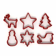 Festive Christmas Set of 6 Cookie/Fondant Cutters Biscuit Dough Icing Cake UK 4