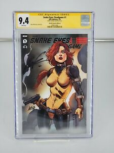 SNAKE-EYES DEADGAME 1 CGC 9.8 SIGNED BY ROB LIEFELD SS 1:25 RATIO RI-B
