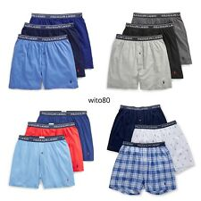 bbe5cbc4ac POLO Ralph Lauren KNIT BOXERS Mens Underwear 3 PACK Gray White Black S M L  XL