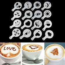 Coffee Stencil Latte Cake Spray Art Cappuccino Plastic Plate Template 16 Designs