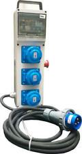 Quadro Elettrico da Cantiere n.3 prese Monofase 2P+T 16A IP67+Emergenza.