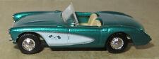 PRALINE HO 1/87 CHEVY CHEVROLET CORVETTE 1957 CABRIOLET OUVERT vert métal #5402