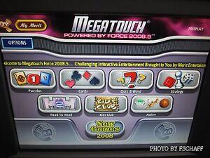 Merit Megatouch Force 2008.5 Hard drive latest version v25.10 mega touch