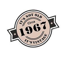Non è vecchio intorno al 1967 ROSETTA Emblema PER CASCO DA MOTO AUTO ADESIVO VINILE