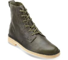 Clarks Men's Desert Mali US 13 M Leaf Green Leather Crepe Sole Boots Shoes $150