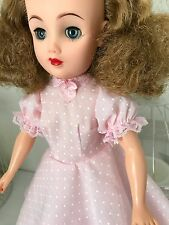 Abito a Pois Rosa & Slip Set Per Vintage adolescente Fashion Doll