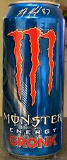NEW MONSTER GRONK ENERGY DRINK 16 FL OZ FULL CAN RARE HTF NEW ENGLAND PATRIOTS