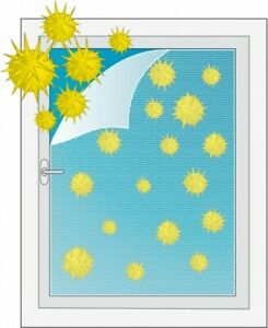 Pollenschutzvlies Fenster mit Klettband  130x150 cm 3er SET