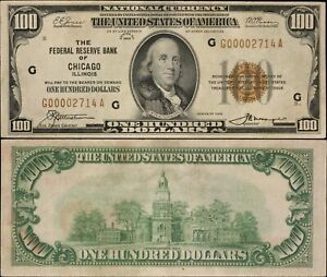1929 $100 National Currency - Chicago, Ill. - F-1890G - Very Nice!!!