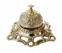 Brass cast table call bell kitchen hotel reception bell designer antique vintage