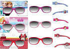 GIRLS KIDS CHARACTER SUNGLASSES Disney Frozen Cinderella Minnie Mouse HOLIDAYS