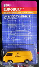 VW TV MINI BUS*rear doors open DIE-CAST 1/55 -new on card #13141 SIKU EUROBUILT