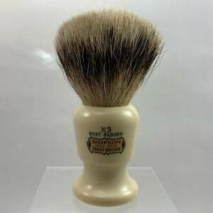 The Commodore X3 Best Badger 24mm Shaving Brush - by Simpson (Pre-Owned)