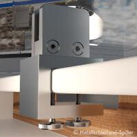V2A Edelstahl 360° Tischklemme Spuckschutz Glashalter eckig für Platten und Glas
