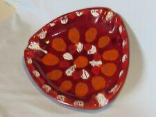 Stunning Atomic Bitossi Era Italy Mid-Century Modern Lava Glazed Pottery Ashtray