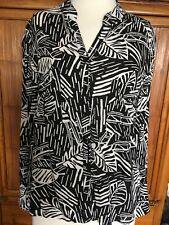 Roxy Black and White Blouse Size Small