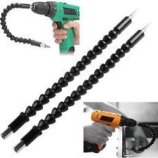 "Flexible Shaft Drill Bit Extension Holder Connecting Link 12"" Cobra Bit Black"