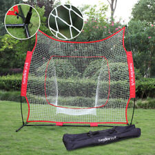 Baseball Softball Practice Hitting Batting Training Net 7×7' Bow Frame Black Bag