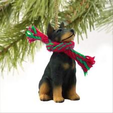 Doberman Pinscher Blk Cropped Dog Tiny One Miniature Christmas Holiday Ornament