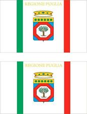 2 x Autocollant sticker voiture pc vinyl macbook drapeau italie italien pouilles