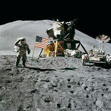Apollo Moon Landing Astronaut NASA USA Moon Buggy 6x5 Inch Reprint Photo