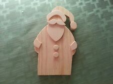 "Chunky Layered St. Nick for 3-D effect - unpainted wood 6 1/2"" tall x 4"" W"