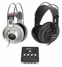 AKG K701 Open-Back Studio Recording Reference Headphones+Samson Headphones+Amp