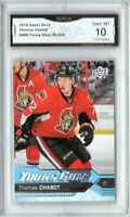 GMA 10 Gem Mint THOMAS CHABOT 2016/17 UPPER DECK YOUNG GUNS ROOKIE SENS!