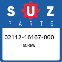 02112-16167-000 Suzuki Screw 0211216167000, New Genuine OEM Part