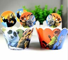 ZOOTOPIA cupcake wrappers and toppers - Pack of 12  **AU SELLER!