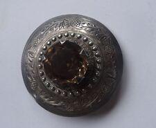 Vintage sterling silver Scottish Plaid Broche, Glasgow c1949/50