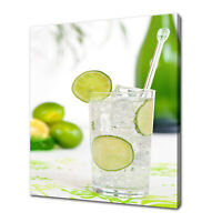 GIN AND TONIC CANVAS PRINT PICTURE WALL ART FREE UK DELIVERY