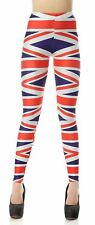 Womens Butterfly Flag Love Print Skinny Slim Fit Sports Trousers Leggings