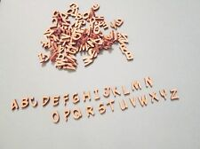 130 Small Laser Cut Wood Letters (Yew Basturd font) 1/2