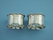 Paar - Serviettenringe -925er Silber -Birmingham 1920 -ES- Barnsley & Co.-S8740